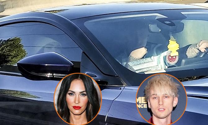 Ngày 15/5, Megan bị paparazzi chụp hình đi chơi với rapper Machine Gun Kelly - bạn diễn của cô trong bộ phim đang quay dở mang tên Midnight In The Switchgrass. Tin đồ Megan Fox ngoại tình rộ lên.