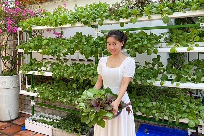 Vườn rau trên sân thượng của bà trùm hoa hậu - 4