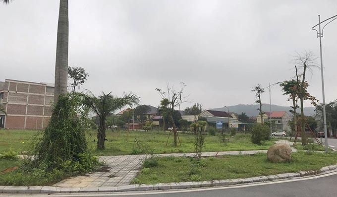 Hiện trạng dự án khu đô thị mới Xuân An đoạn qua tổ dân phố 7. Ảnh: Hùng Lê