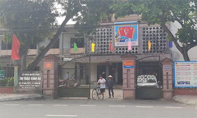 Trụ sở thị trấn Xuân An, nơi ông Minh cùng thuộc cấp làm việc. Ảnh: Hùng Lê