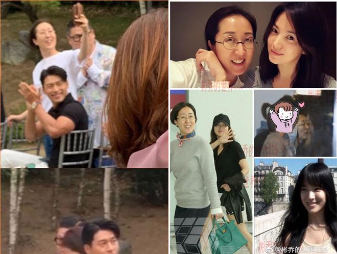 Năm ngoái, Hyun Bin dự đám cưới của stylist của anh. Và khi đó, anh ngồi cạnh stylist của Song Hye Kyo (người phụ nữ đeo kính).