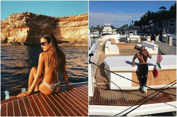 Đôi tình nhân rất mê du lịch biển. Hai người thường xuyên khoe ảnh sống ảo trên du thuyền riêng ở nhiều vùng biển đẹp như Miami - một trong những điểm đến mùa hè hot nhất nước Mỹ; Ibiza -hòn đảo ở Địa Trung Hải nằm ngoài khơi bờ biển thành phố Valencia tại Tây Ban Nha - nơi được mệnh dành làthiên đường ăn chơi của giới quần đùi áo số haySardinia - điểm nghỉ mát màGianluca yêu thích, xem như quê hương thứ hai của mình.