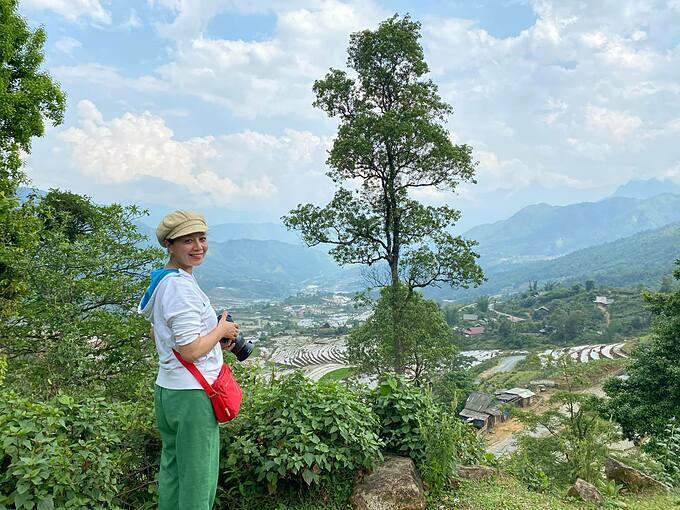 Diễn viên Chiều Xuân đam mê chụp ảnh vùng cao.