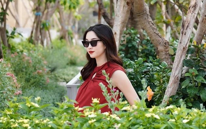 Hoa hậu Đặng Thu Thảo khi mang bầu lần hai.