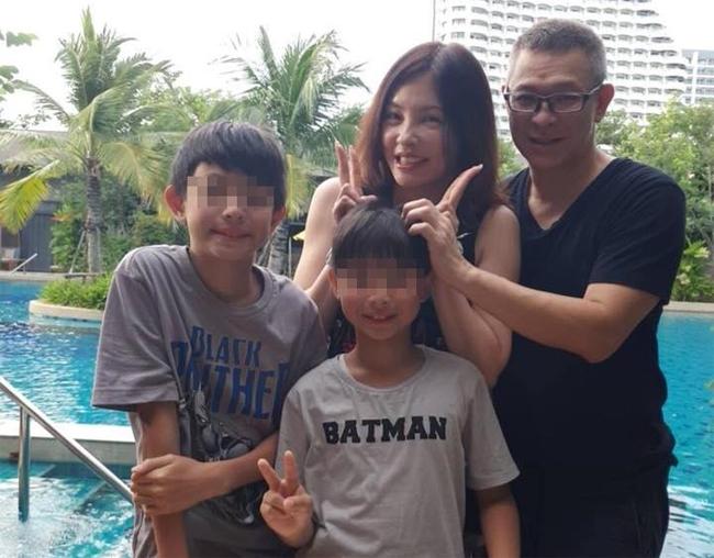 Hà Như Vân và chồng con.