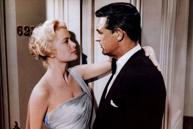 Grace with one-time lover Cary Grant in To Catch A Thief in 1955