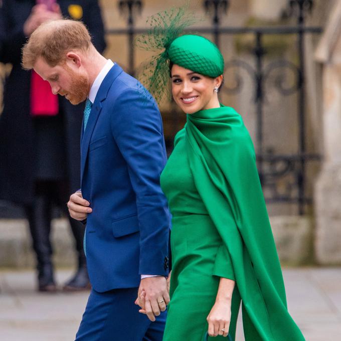 Nhà Sussex khi tham dự sự kiện hoàng gia cuối hôm 9/3 tại tu viện Westminster. Ảnh: Splash News.