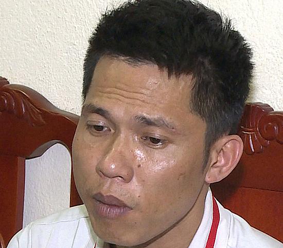 Nghi can cầm đầu Hoàng Văn Đông. Ảnh: Lam Sơn.