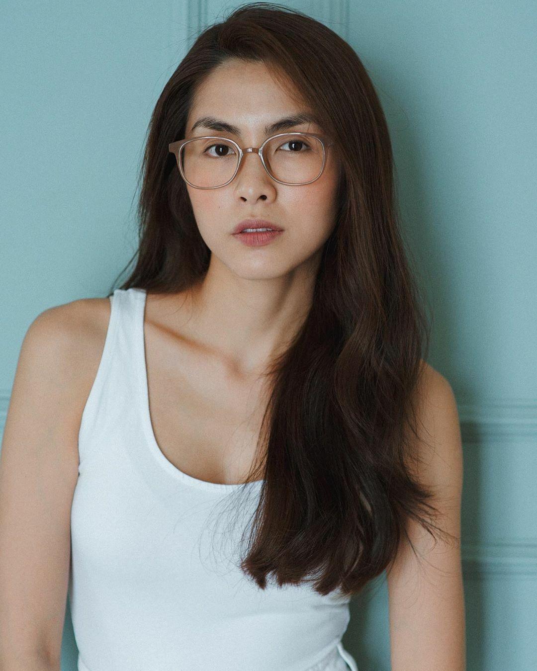 Gương mặt Tăng Thanh Hà đầy đặn hơn nhờ tăng 5 kg.