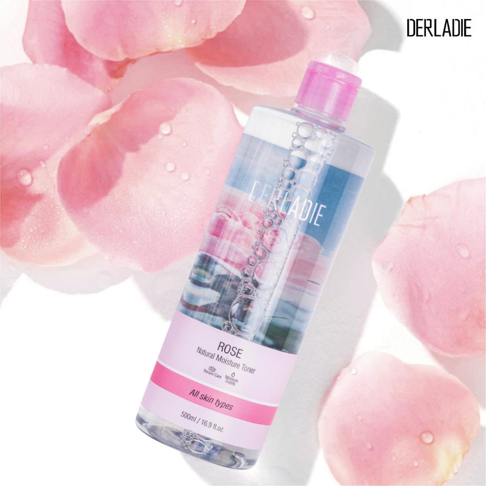 Toner Derladie Rose được định vị là dòng toner đa năng. Bởi ngoài tác dụnglàm sạch sâu, loại bỏ bụi bẩn, dầu thừa còn sót lại trên da;cung cấp độ ẩm, khôi phục độ pH, làm giảm tình trạng da khô ráp, bong tróc, sản phẩm còn được bổ sung tính năng giúp kháng viêm, trị mụn và ngăn ngừa mụn.