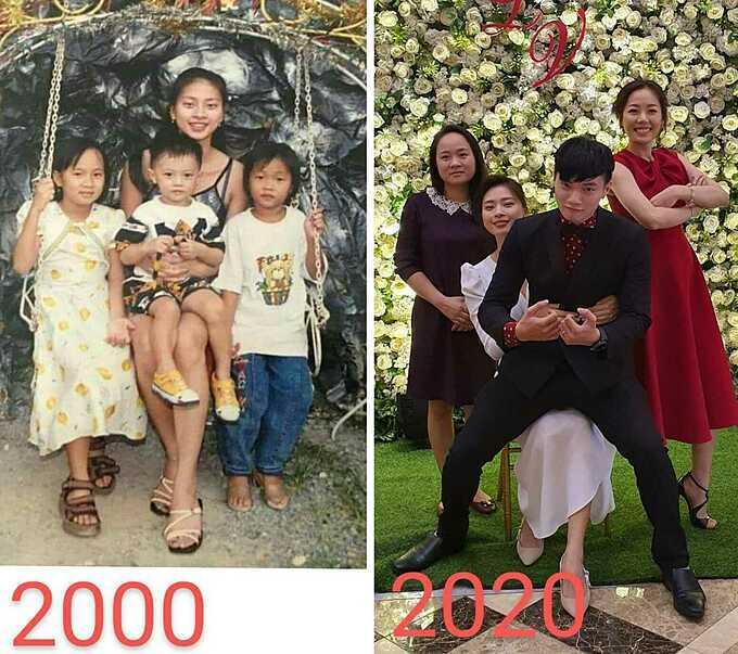 Ngô Thanh Vân và ba người em sau 20 năm.