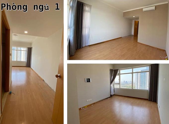 Phòng ngủ chính của căn hộ có ưu điểm rộng rãi và tầm nhìn đẹp. Đây cũng chính là lý do mà nhạc sĩ quyết định tậu căn nhà này.