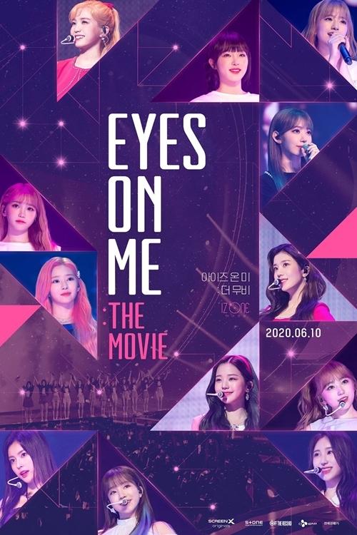 Phim tài liệuEyes On Me: The Moviehé lộ những câu chuyện phía sau sân khấu, hoạt động tập luyện của nhóm nhạc nữ Eyes On Me (tên gọi khác là IZ ONE). Đây là nhóm nhạc kết hợp các thành viên người Hàn Quốc và Nhật Bản, được tuyển chọn từ 96 thực tập sinh đến từ nhiều công ty giải trí. Phim chiếu rạp từ 26/6/2020.