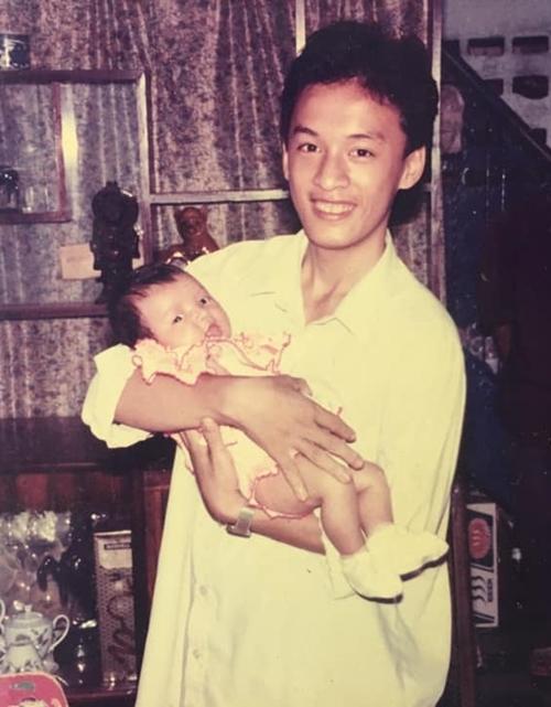 Lam Trường và cháu gái.