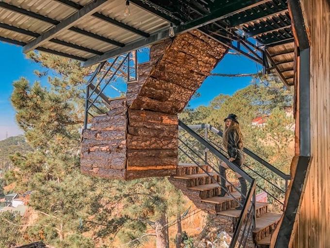Cây cầu gỗ trên núi view đẹp Đà Lạt - 2