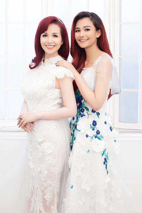 Diệu Hoa và con gái thứ hai Diệu Ly.