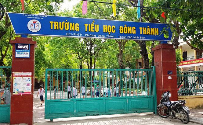 Trường Tiểu học Đông Thành nơi xảy ra sai phạm.