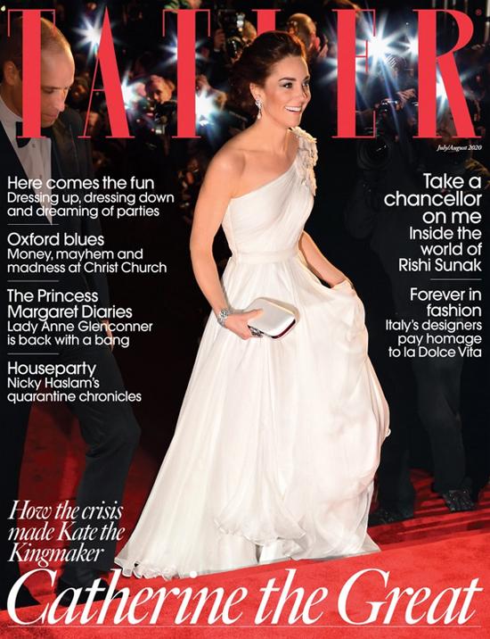 Bìa tạp chí Tatler số tháng 7/8 có bài viết về Kate Middleton.