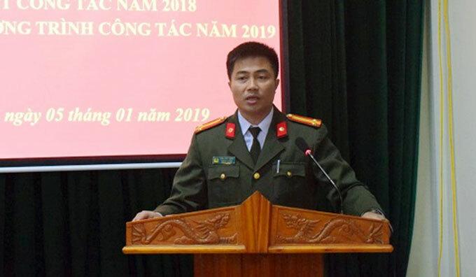 Trung tá Trần Vĩnh Thành. Ảnh: Vũ Khánh