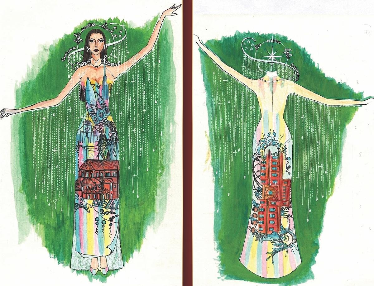 Áo bảo hộ Covid-19 thành trang phục dân tộc thi Miss Universe - 20
