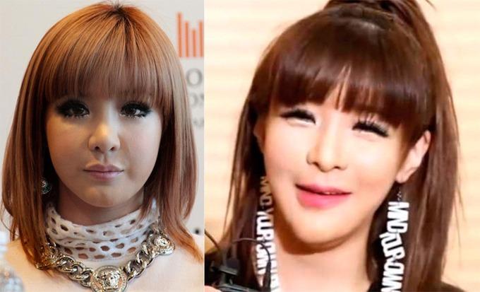 Gương mặt Park Bom thay đổi liên tục khiến cô bị nghi là nghiện dao kéo.