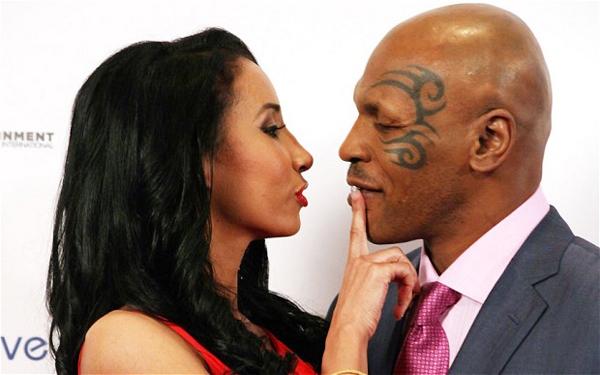 Mike Tyson và người vợ hiện tại Lakiha. Ảnh: Sun.
