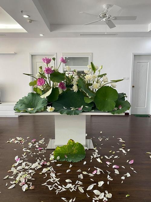 Khi nắm được nguyên tắc cắm hoa, anh tự phát triển thêm các cách cắm của riêng mình.