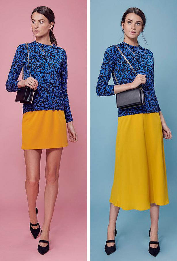 Riêng với những loại vải mềm mại, váy midi xòe nhẹ sẽ bổ sung nét lãng mạn, bay bổng cho diện mạo.