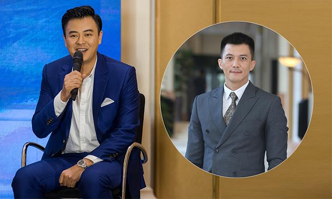 Tuấn Tú và Hà Việt Dũng tại buổi ra mắt phim Lựa chọn số phận.