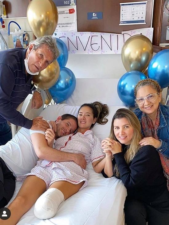 Alvarez - hoa hậu Colombia 2011 - xuất hiện trên giường bệnh sau khi được cắt bỏ chân tráivì biến chứng