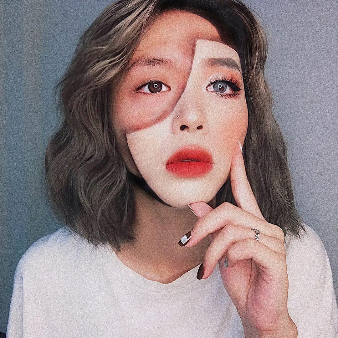 Nữ sinh trường Báo lên diễn đàn nước ngoàinhờ tài makeup - 2
