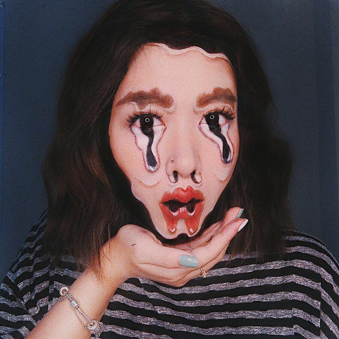 Nữ sinh trường Báo lên diễn đàn nước ngoàinhờ tài makeup - 4