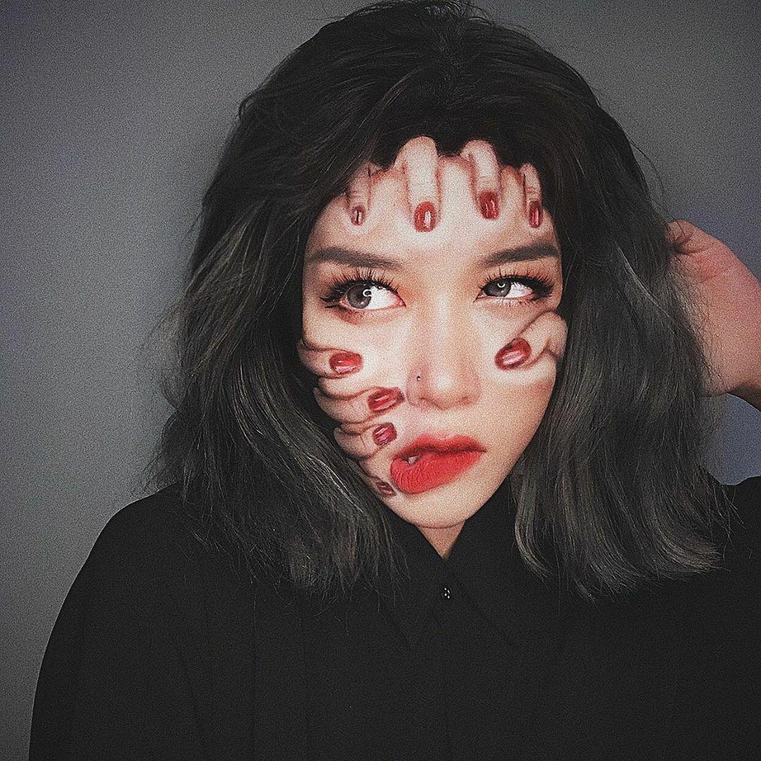 Nữ sinh trường Báo lên diễn đàn nước ngoàinhờ tài makeup - 8