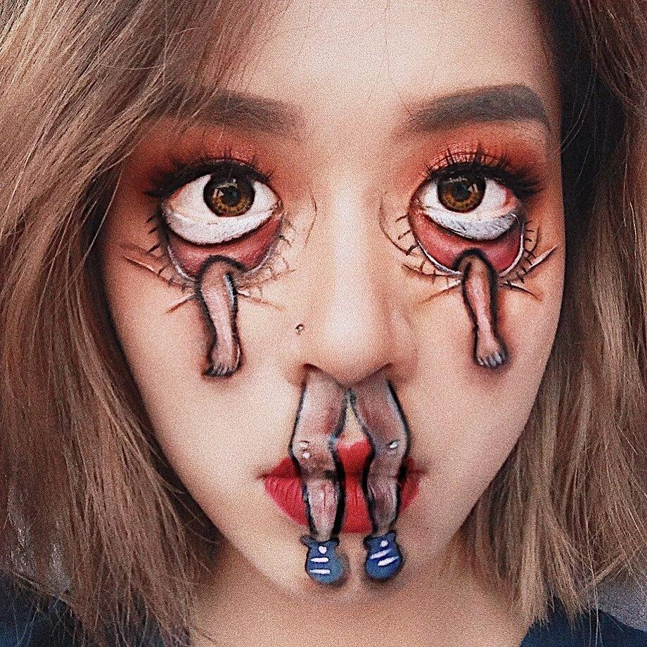 Nữ sinh trường Báo lên diễn đàn nước ngoàinhờ tài makeup - 10