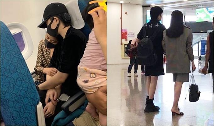 Cặp đôi từng bị bắt gặp thân thiết trên máy bay.