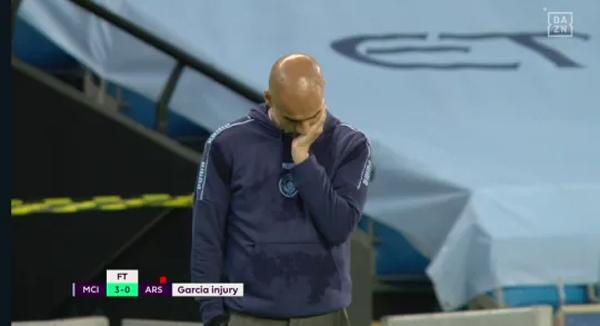 Dù giành trọn 3 điểm nhưng HLV Guardiola vẫn không có niềm vui trọn vẹn khi học trò đồng hương bị chấn thương nặng.