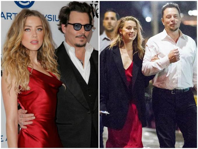 Johnny Depp (trái) tin rằng Amber Heard đã ngoại tình với nhiều người, trong đó có Elon Musk (phải), trong suốt mối quan hệ của họ từ năm 2012 đến tháng 5/2016.