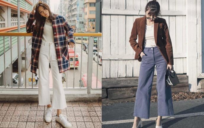 Quần ống rộng và áo blazer: Dù đi làm hay đi chơi, công thức được các cô gái Hàn Quốc ưa chuộng - quần ống rộng, áo phông hay áo sơ mi, kèm theo blazer, sneakers hoặc giày cao gót có thể là một sự lựa chọn hoàn hảo.Ngoài ra, những cô gái cá tính cũng có thể phối quần ống rộng cạp cao cùng áo crop top và blazer ở ngoài. Khi tan làm, nàng có thể cởi áo khoác và tự do quẩy cùng hội bạn. Hiện, Shopee đang có hàng loạt ưu đãi cho quần ống rộng, xem thêm tại đây.