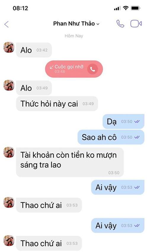 Tài khoản Viber giả mạo Phan Như Thảo.