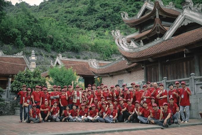 Đoàn phimKiềutại bối cảnh ở Cao Bằng.