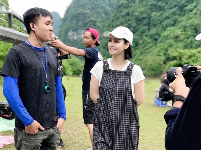 Cô thấy may mắn vì có nhiều đồng nghiệp giỏi cùng mình đồng hành trong dự án phimKiều.