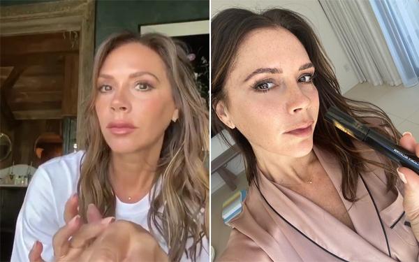 Hình ảnh Vic trong video tuần trước (trái) và Vic hồi tháng ba. Ảnh: Instagram.