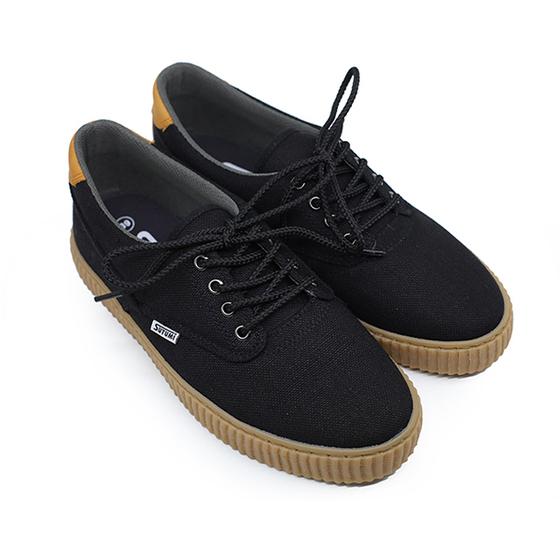 Giày cột dây nam Sutumi Sum012-Black giá 569.000 đồng; làm từ chất liệu vải canvas; đế cao su thiên nhiên; kiểu dáng năng động.