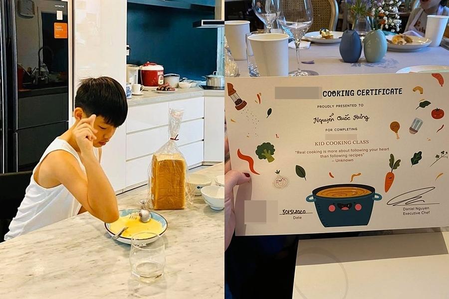 Subeo đặc biệt có niềm đam mê làm bánh. Ở nhà, em vào bếp trở tài nấu nướng mời mẹ dùng thử. Hiểu sở thích của con, Hồ Ngọc Hà tạo điều kiện cho Subeo tham gia các lớp học về ẩm thực. Mới đây, nữ ca sĩ khoe giấy chứng nhận con trai hoàn thành khóa học ở một khách sạn nổi tiếng.