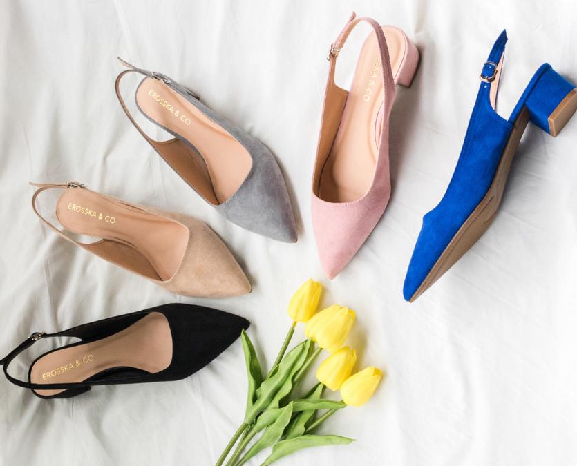 Giày nữ, giày cao gót vuông slingback Erosska bít mũi độc đáo cao 3 cm EL011 (GR) giảm 40% còn 179.000 đồng; kích thước 35, 36, 39; chất liệu da lộn; nhiều màu sắc, mang phong cách sang trong cho các cô nàng công sở tự tin thả dáng.