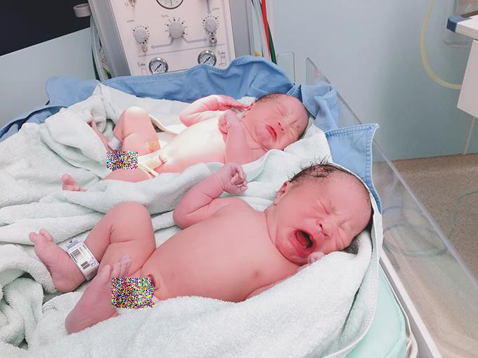 Khi mới chào đời, hai bé lần lượt nặng 3,34 kg và 3,38 kg. Cặp song sinh được bố mẹ đặt biệt danh ở nhà là Goku và Daino, tên thật là Chính Nhân và Hiểu Nhân.