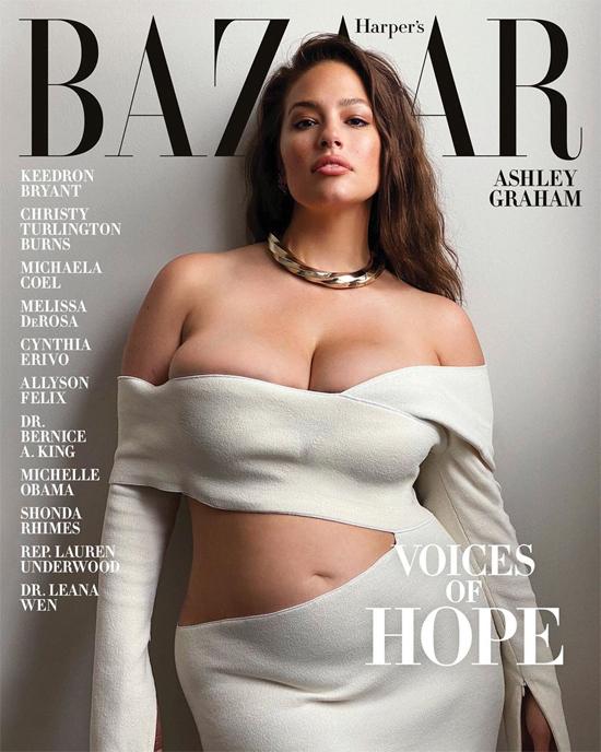 Hình ảnh nóng bỏng của cô trên bìa tạp chí.