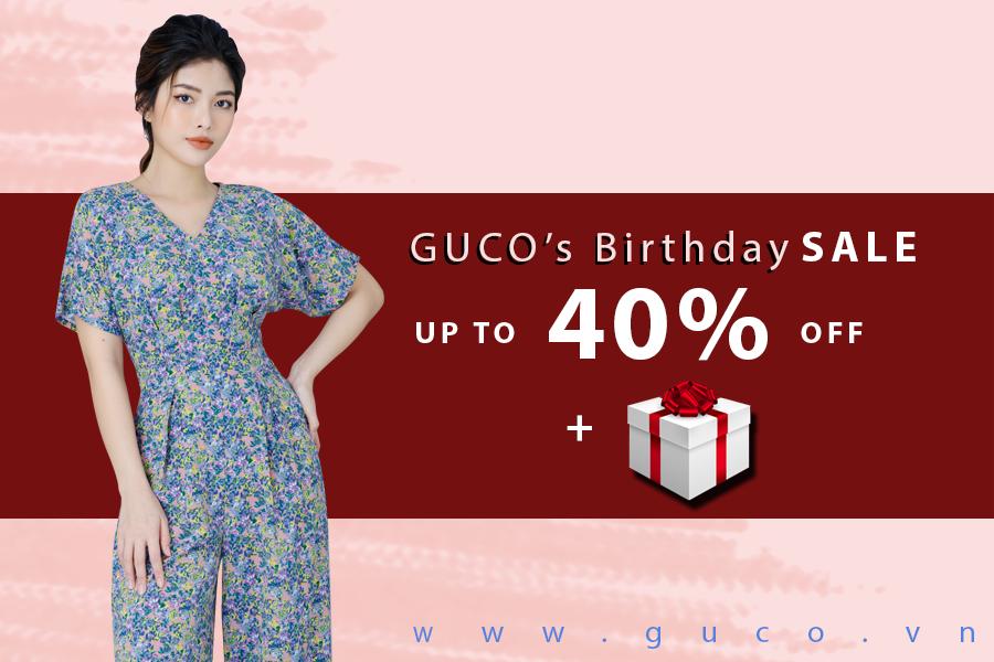 Trong chương trình khuyến mãi lần này, GUCO sẽ giảm giá đến 40% và tặng quà cho cáchóa đơn 1 triệu trở lên. Chương trình diễn ra trong vòng 3 ngày, từ 26/6 đến 28/6/2020 vàchỉ áp dụng tại các showroom GUCO trên toàn quốc.