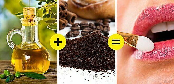 Để môi không khô ráp, bạn nên tăng cường uống nước và loại bỏ lớp tế bào chết bằng hỗn hợp cà phê - dầu ô liu.