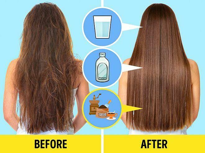 Cà phê giúp kích thích lưu thông máu ở da đầu, ngăn ngừa rụng tóc, giúp tóc mềm mượt hơn.